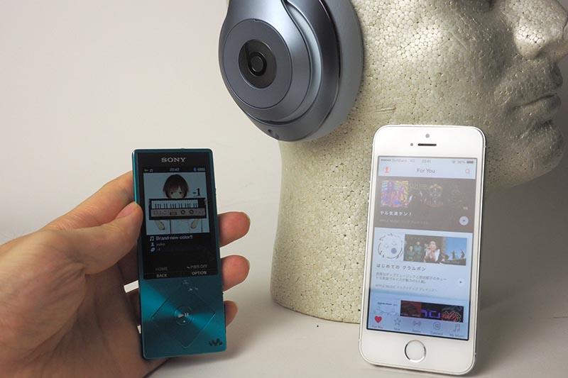 ウォークマンNW-A16とiPhone 5sを主に使用