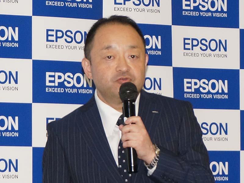 エプソン販売 VP MD部長の蟹澤氏