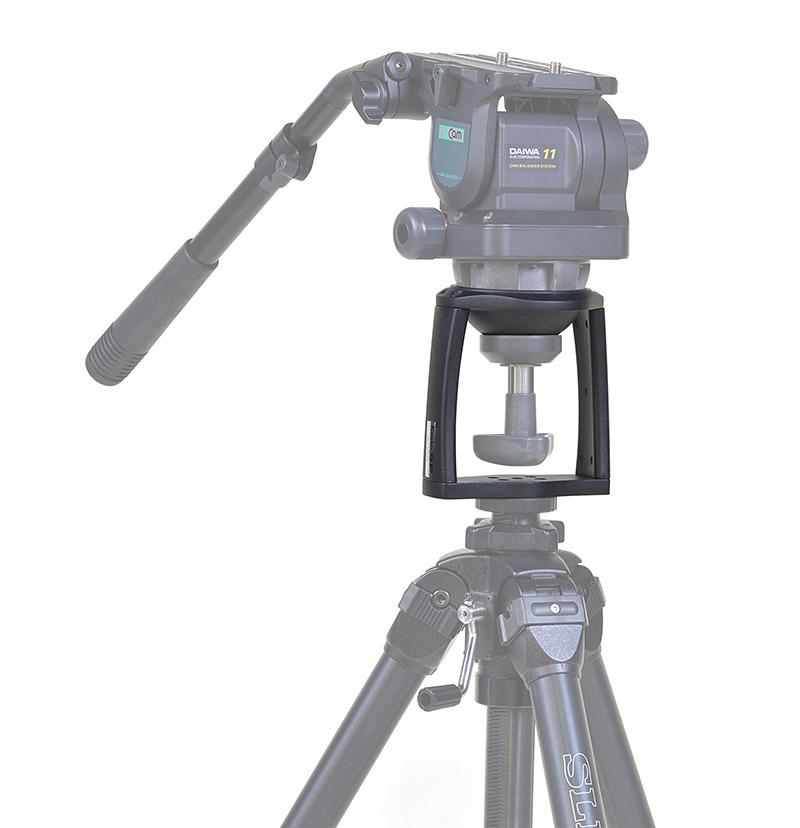 ビデオ雲台と三脚を組み合わせた使用イメージ