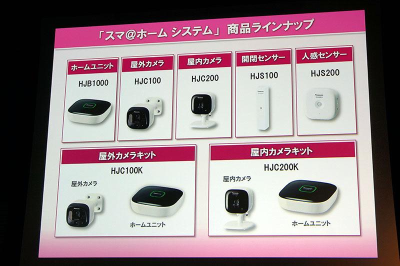 屋外カメラキット/屋外カメラキットの2モデルと、単品発売するユニットのラインナップ