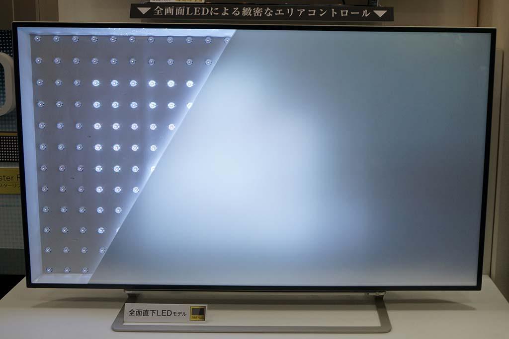 テレビでは映像に合わせて、LEDの明滅を制御し、コントラスト感を高める(写真は東芝 REGZA Z10X)