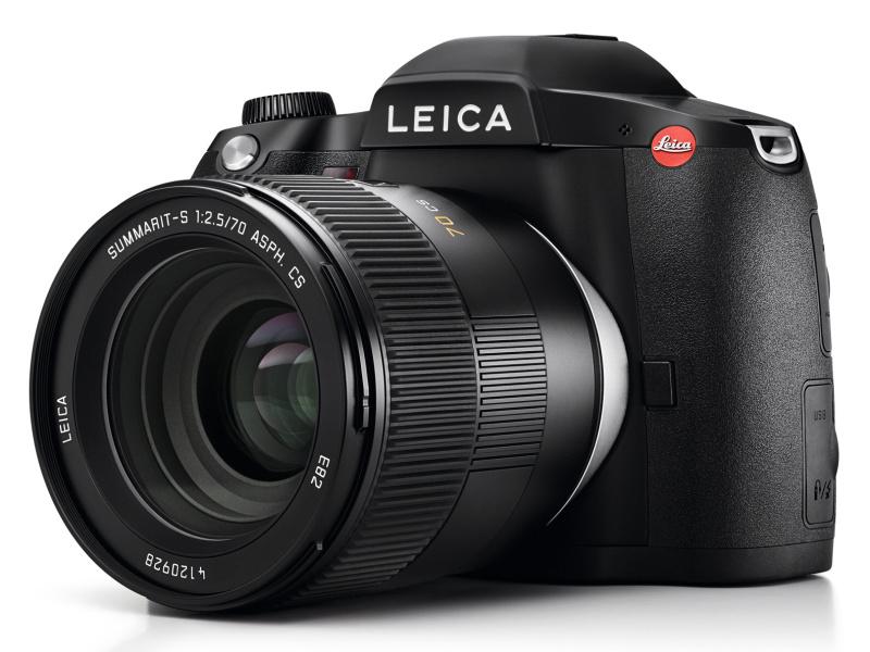 中判デジタル一眼レフカメラ「ライカS」(Typ 007)。レンズは別売