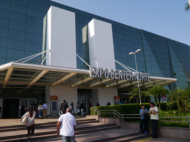 SET EXPO 2015が開催されたブラジル・サンパウロのEXPO CENTER NORTE