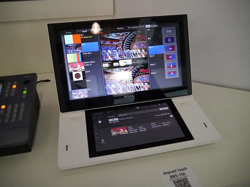 タッチパネルで簡単操作ができるスイッチャー「AWS-750」