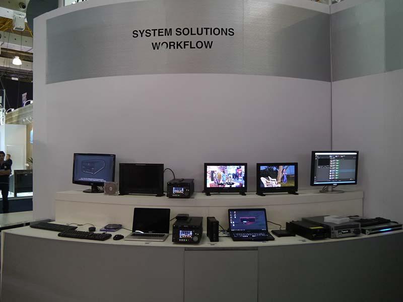 ソニーによるシステムワークフローソリューションの展示