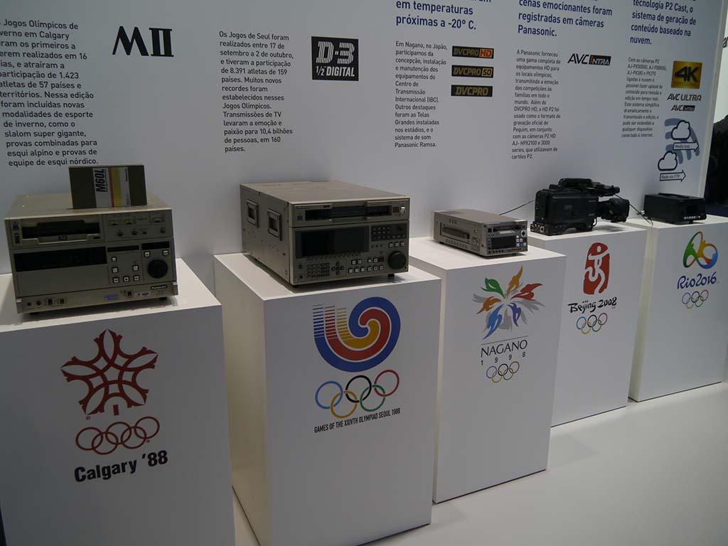オリンピックの放送を支えてきたパナソニックの歴史も紹介