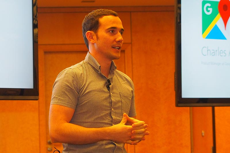 IFAのプレスカンファレンスでは、ゲストスピーカーとしてGoogle Map担当のCharles Armstrong氏が来場