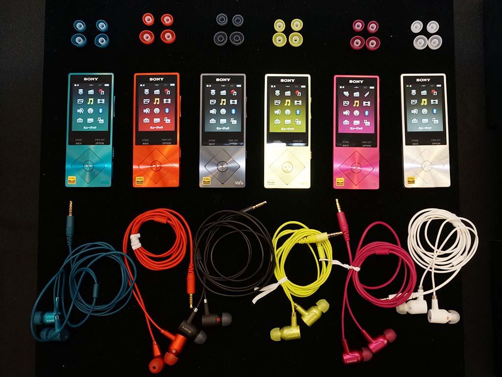 NW-A20HN。6色のカラーバリエーションを用意