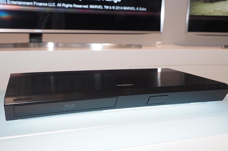 Samsungが展示した4K/UHD Blu-rayプレーヤー「UBD-K8500」