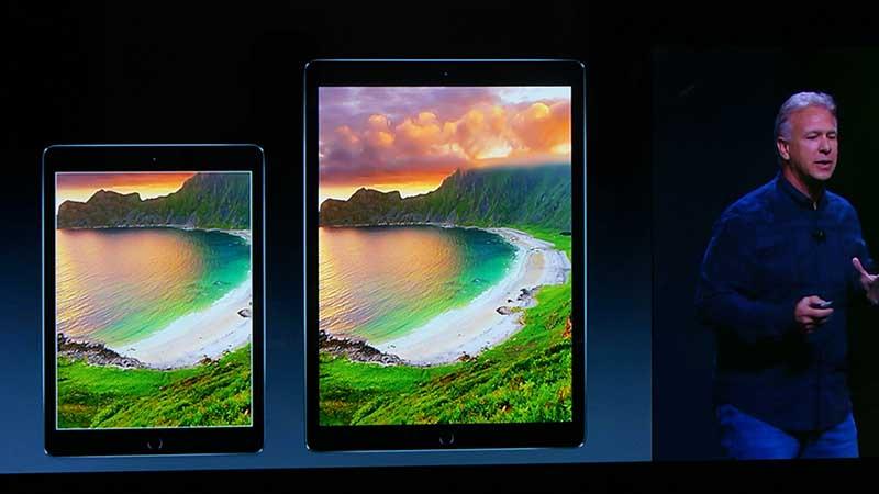 iPad Air2(左)とiPad Pro(右)の比較