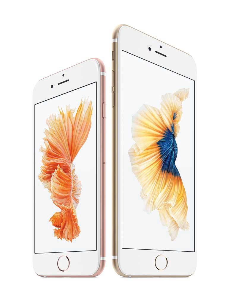 iPhone 6s(左)とiPhone 6s Plus(右)