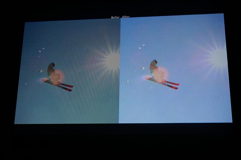 アクションカメラ動画の調整前と後の比較
