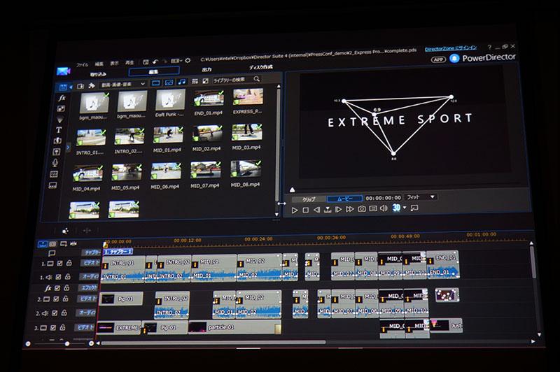 クイックプロジェクトで動画にオープニング/エンディングなどを付けられる
