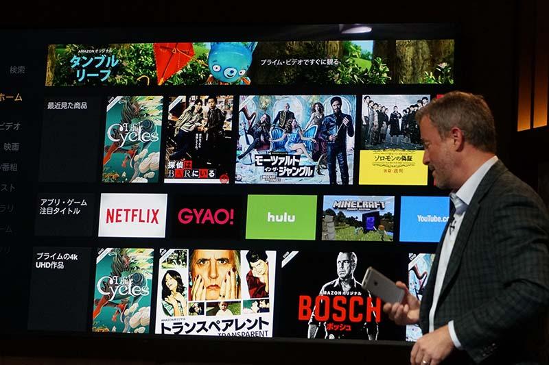 NetflixやHulu、GYAO!、niconicoもFire TVで。Netflixは4K視聴にも対応