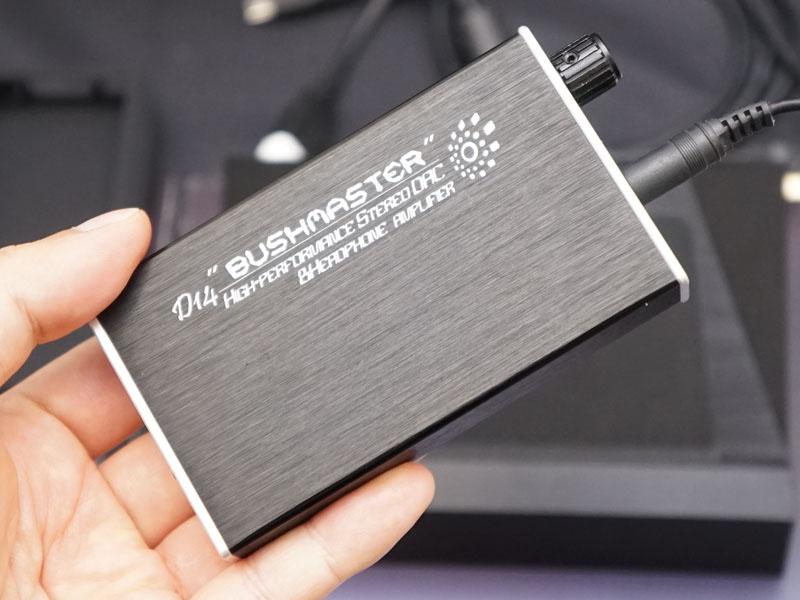 USB DAC機能を搭載したポータブルヘッドフォンアンプ「D14」