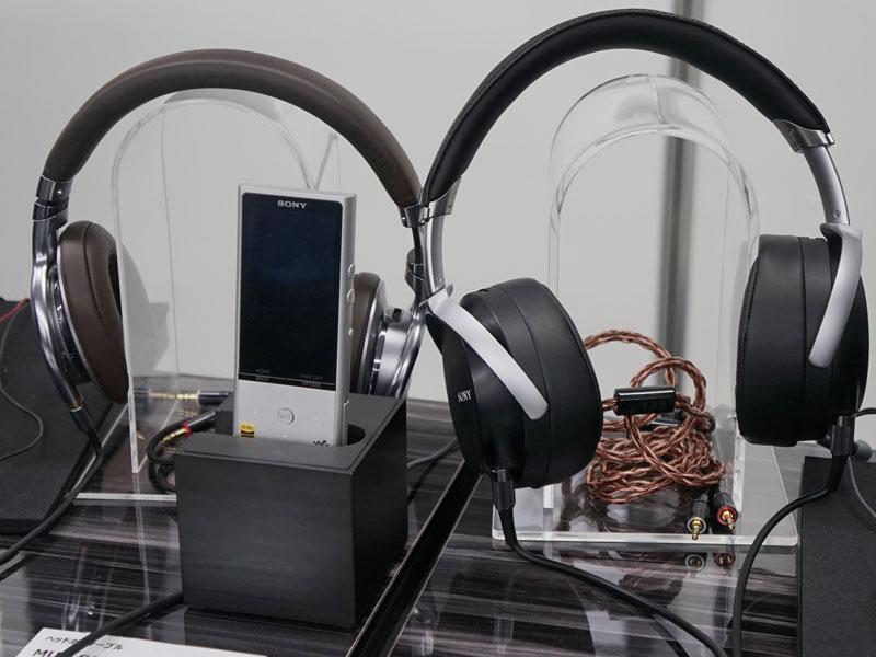 ウォークマンやヘッドフォンのハイレゾ対応モデルも展示