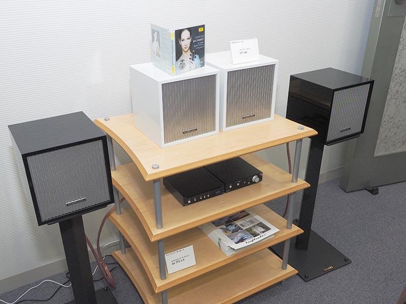nanocompoと、クラフトノーツ製のスピーカー「OT-360」を組み合わせたコンパクトなシステムも