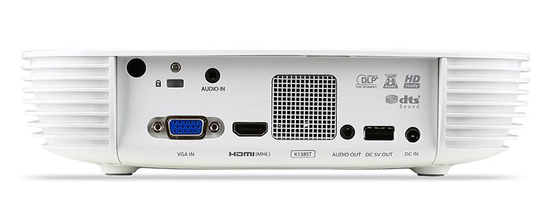 MHL対応のHDMI端子やアナログRGB(D-sub 15ピン)などを備える