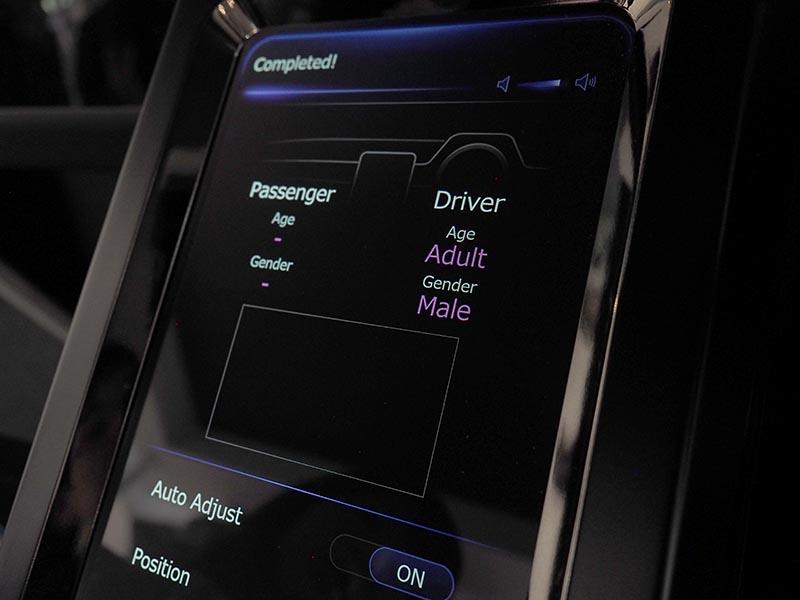 カメラの顔認証で、ユーザーに合わせた走行ルートなどを提案