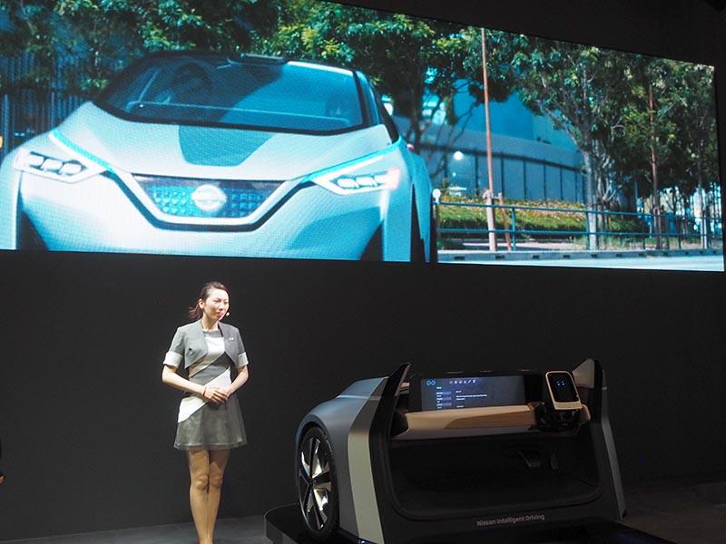 日産の「Nissan IDS Concept」(パイロットドライブモード時)