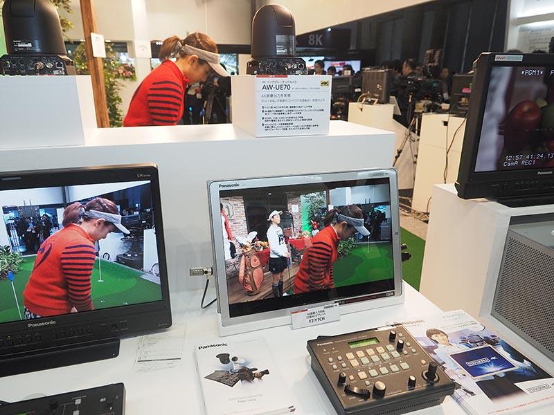 4Kインテグレーテッドカメラ「AW-UE70」とTOUGHPADの組み合わせ