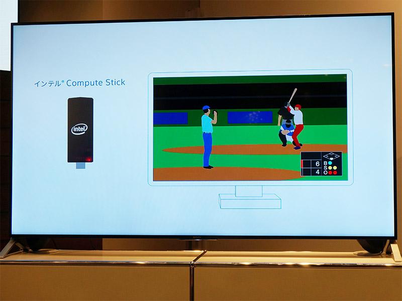 テレビのHDMI端子にCompute Stickを挿すだけで準備完了