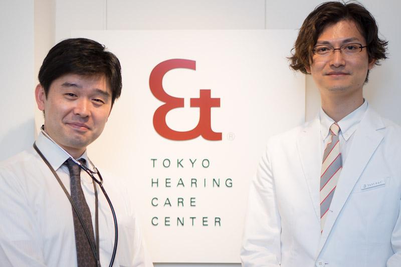 東京ヒアリングケアセンター青山店店長の菅野 聡氏(左)、ソニーエンジニアリングの松尾 伴大氏