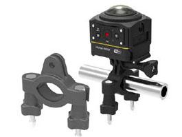 標準ハウジングを使い、自転車のハンドルなどに取り付けるためのバーマウント