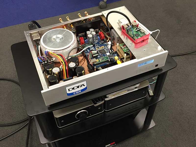 CSRのDDFAリファレンスアンプに、Raspberry PiをI2S接続したところ