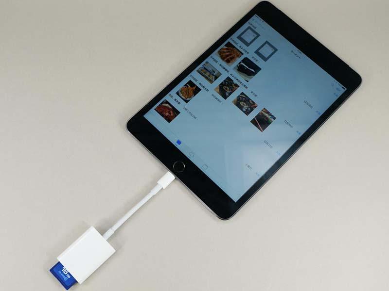 iPad mini 4につないだ状態