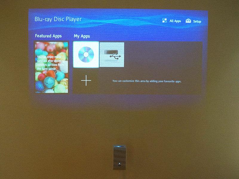HDMI接続したBDプレーヤーの映像をワイヤレス投写