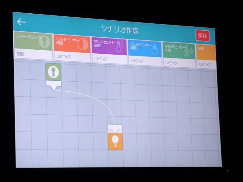 アプリにはシナリオ作成機能も搭載