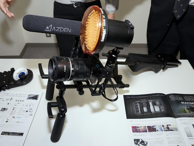 動画撮影用アクセサリを組み込んだ例