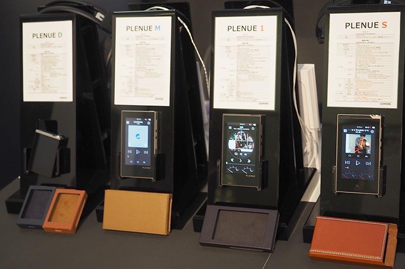 COWONは、ハイレゾプレーヤーのDSD 11.2MHz対応上位モデル「PLENUE S」などを展示