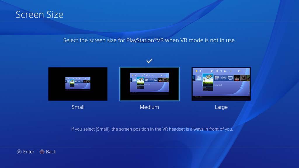 シネマティックモードで、通常のPS4映像/ゲームも大スクリーン表示