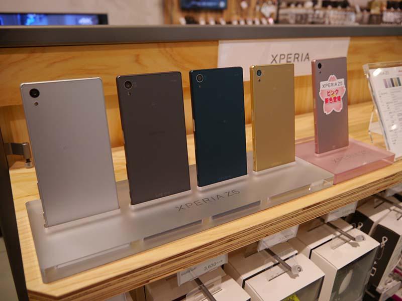 VAIOやスマートフォンなどを展示するモバイルコーナー