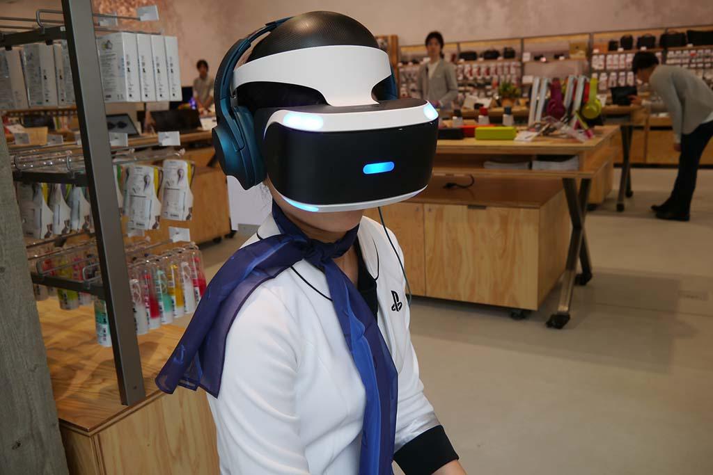10月に発売を予定しているPlayStation VRの体験もできる