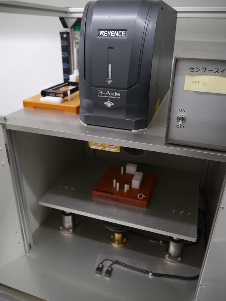 特別に刻印サービス用の機械を見せてもらった