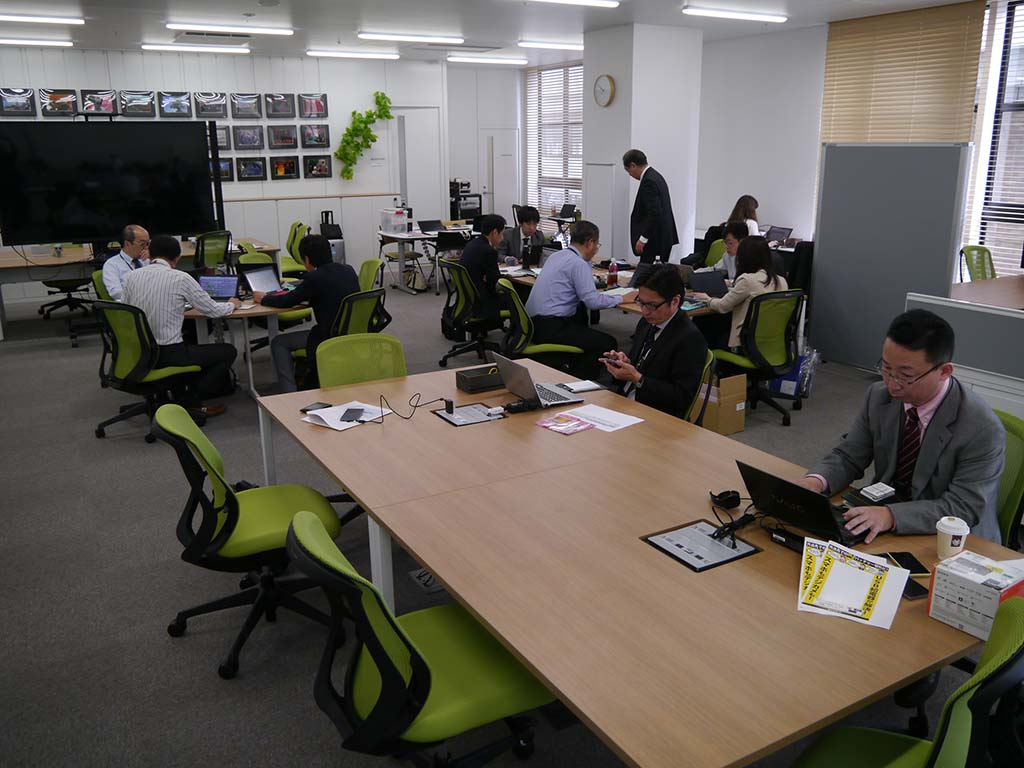 ソニーコンスーマーセールス九州支社のオフィスの様子