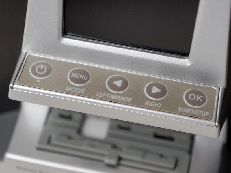 メニュー操作用ボタン