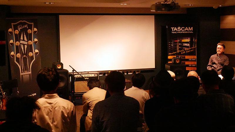 渡辺香津美氏とソニー・ミュージックスタジオの鈴木浩二氏を交えてトーク