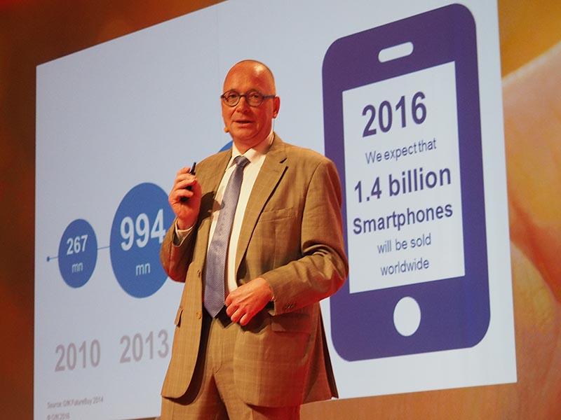 スマートフォン市場の伸長