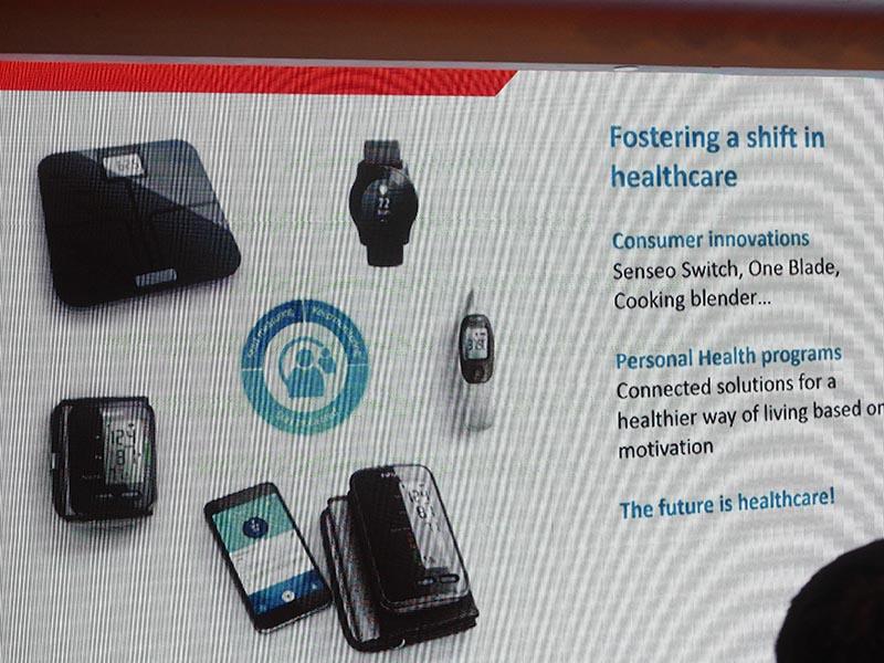 IFA GPCイベント内の「Power Briefing」では、参加するメーカーなどのプレゼンテーションも行なわれた。Philipsは、シェーバーや血圧計といったヘルスケア製品の最新製品などを提案