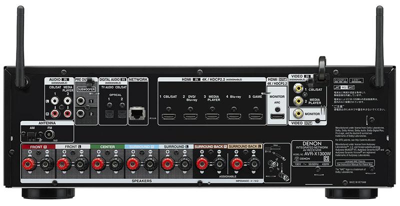 AVR-X1300Wの背面