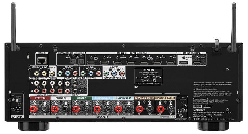 AVR-X2300Wの背面