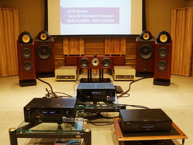 デノンの試聴室で2機種のサウンドをチェック