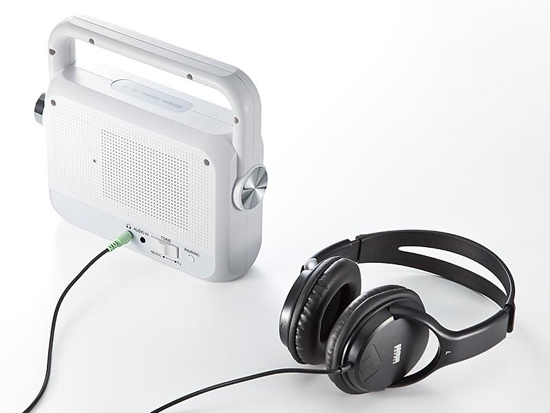 ヘッドフォンなどを接続してワイヤレスレシーバとしても使える