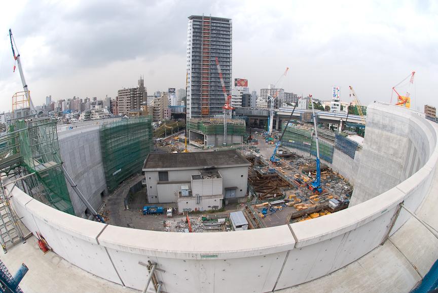 建設中の大橋JCT(2008年10月23日撮影)