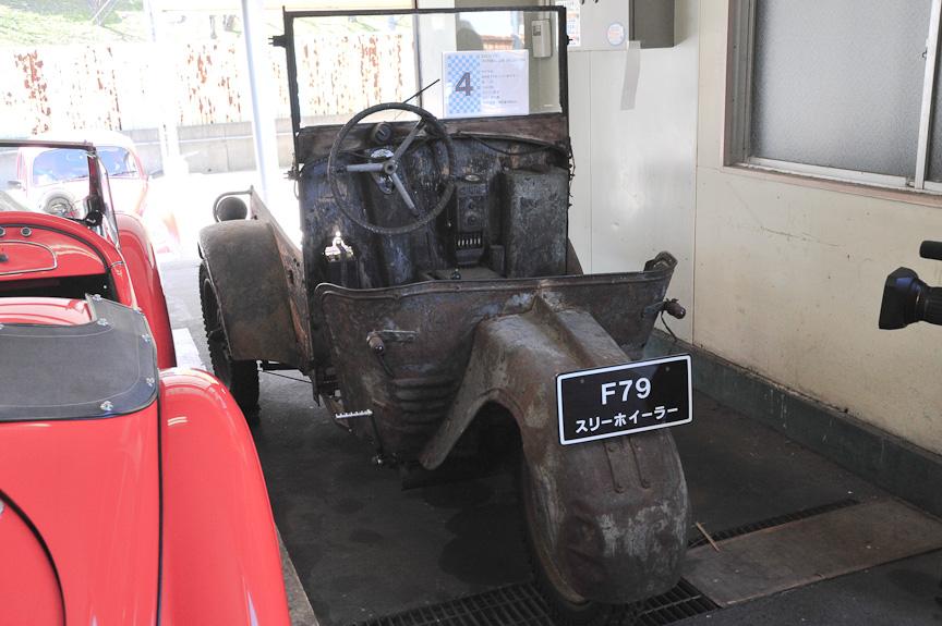 BMW F79 スリーホイラー(1933年)<br>BMWの唯一の商用車。BMWのバイク用単気筒エンジンを流用した