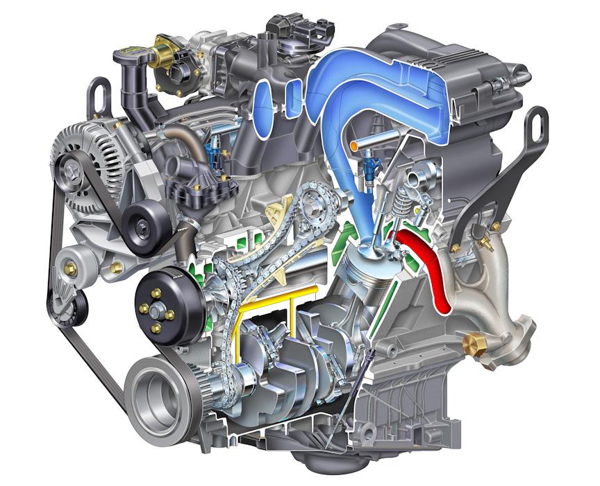 V型6気筒 SOHC 4.0リッターエンジンは5速ATと組み合わされ、最高出力157kW(213PS)/5100rpm、最大トルク344Nm(35.1kgm)/3700rpmを発生する
